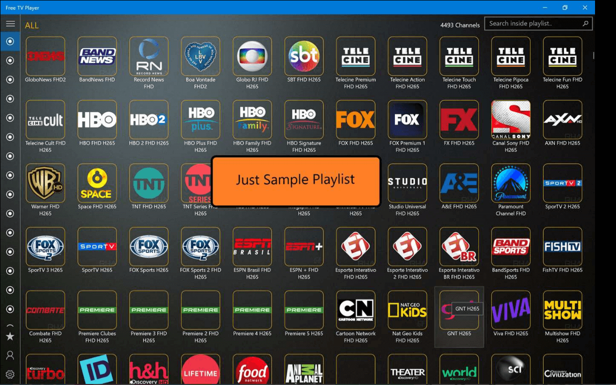 Free IPTV player for PC