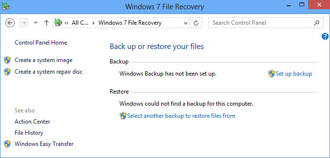 Full Backup of Windows 7