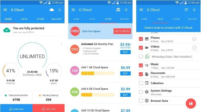 G Cloud Backup - Backups for android apps