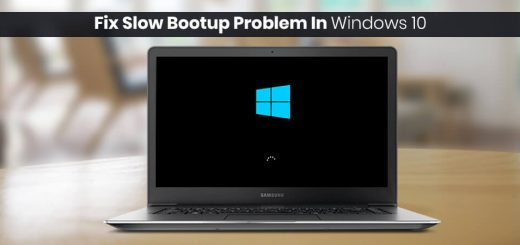 How To Fix Slow Bootup Problem in Windows 10