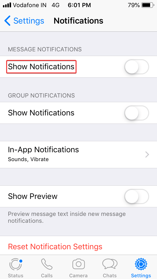 Protect Your Whatsapp Chats – Disable Notification Preview