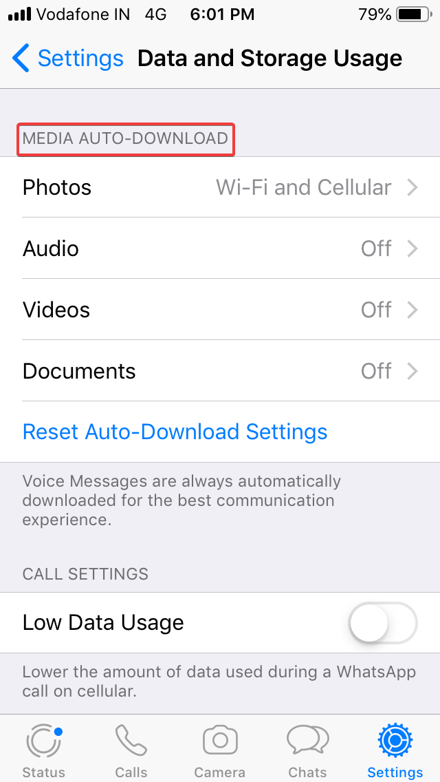 Stop Auto Download Of Photos And Videos To Save Data