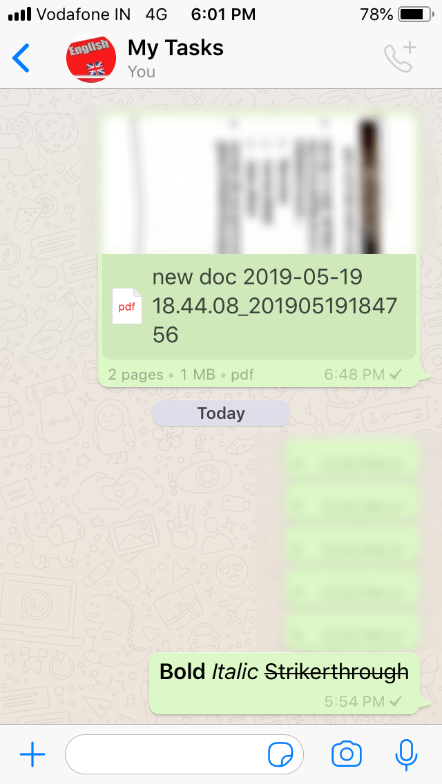 Text Formatting In Whatsapp