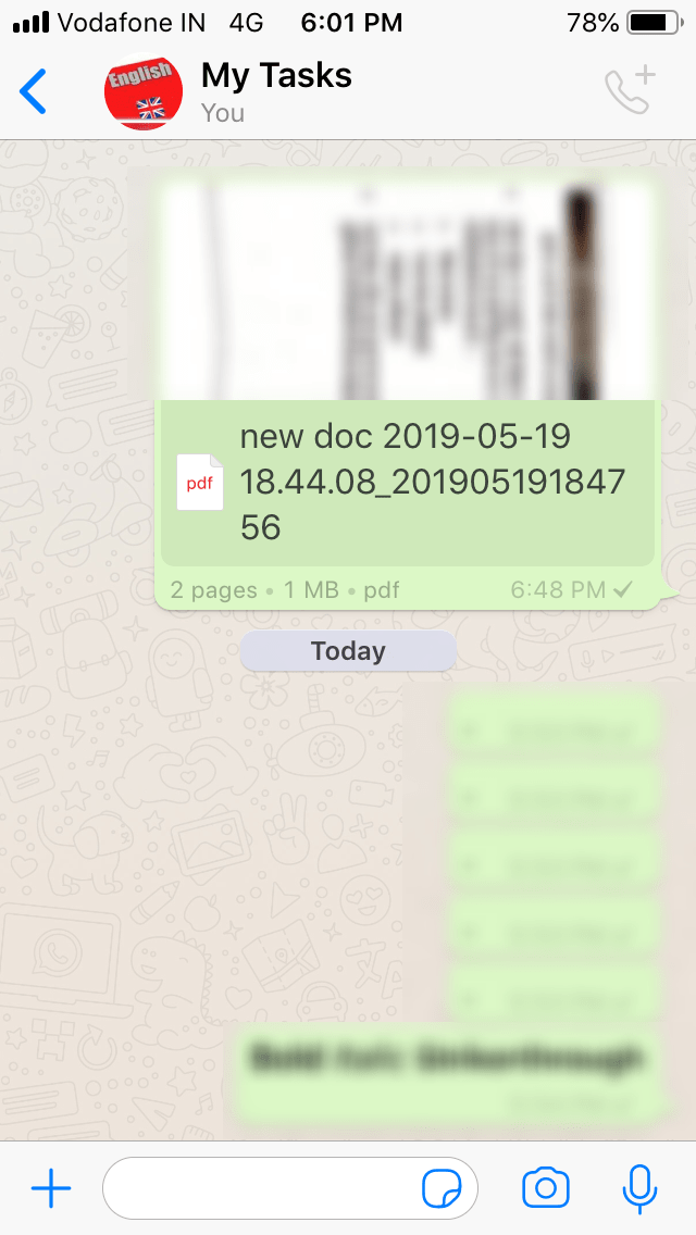 Turn WhatsApp Into A Diary Or A Notepad
