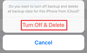 Turn off and delete Pop up Confirmation button