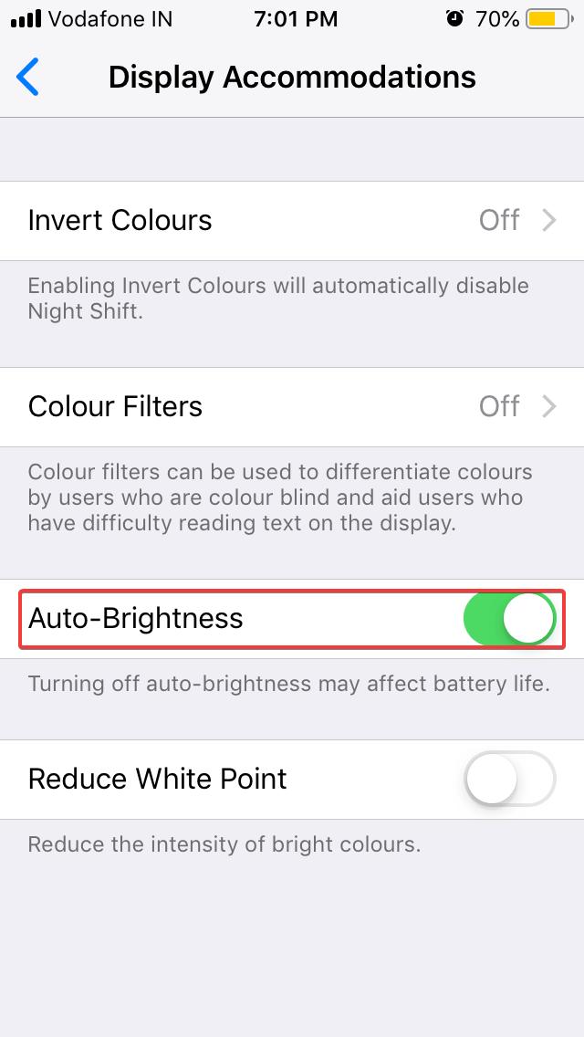 Turn on auto-brightness