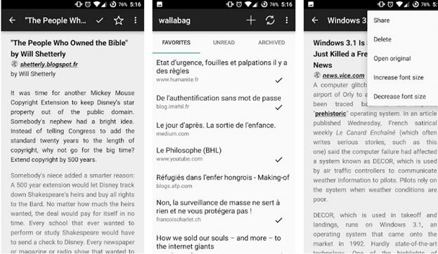Wallabag - Offline Reader App For Android