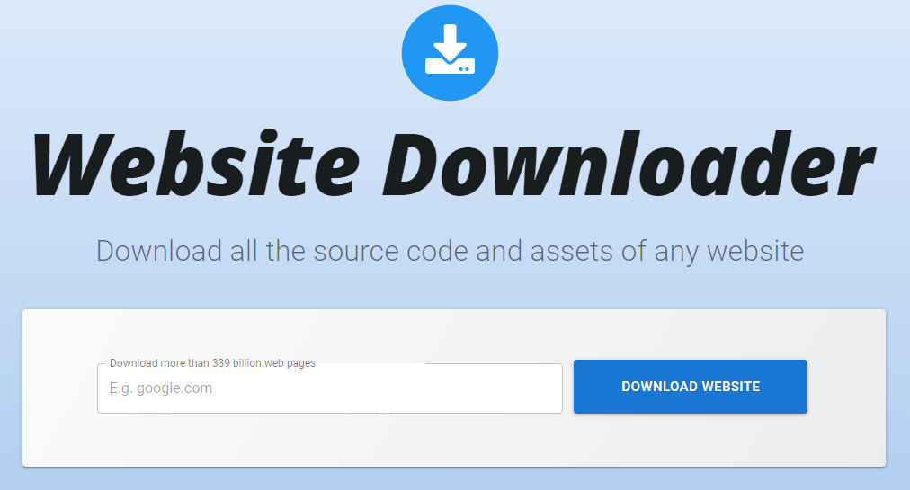 Websitedownloader - Download Websites