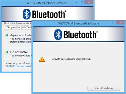 Widecomm bluetooth software