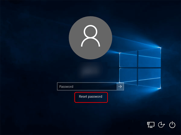 Windows Login page