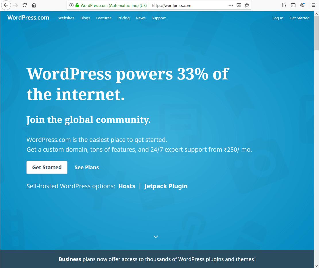 Wordpress - Blogging Plateform