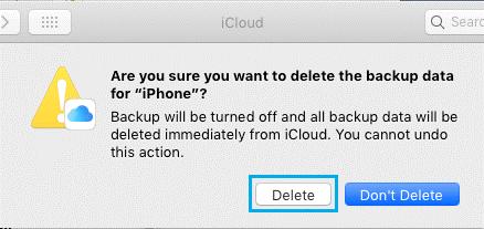 click on Delete button