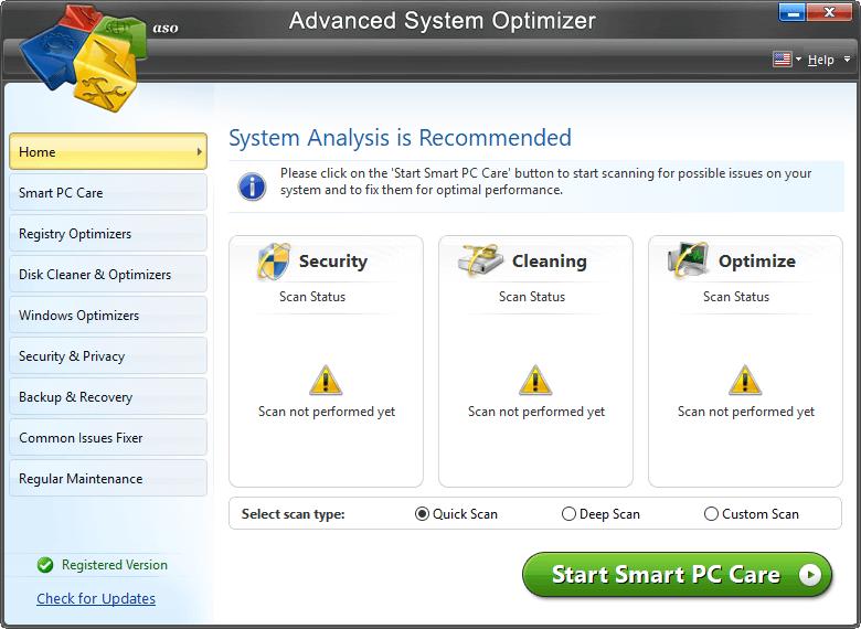 Advanced System optimizer - Fix Frozen Windows PC