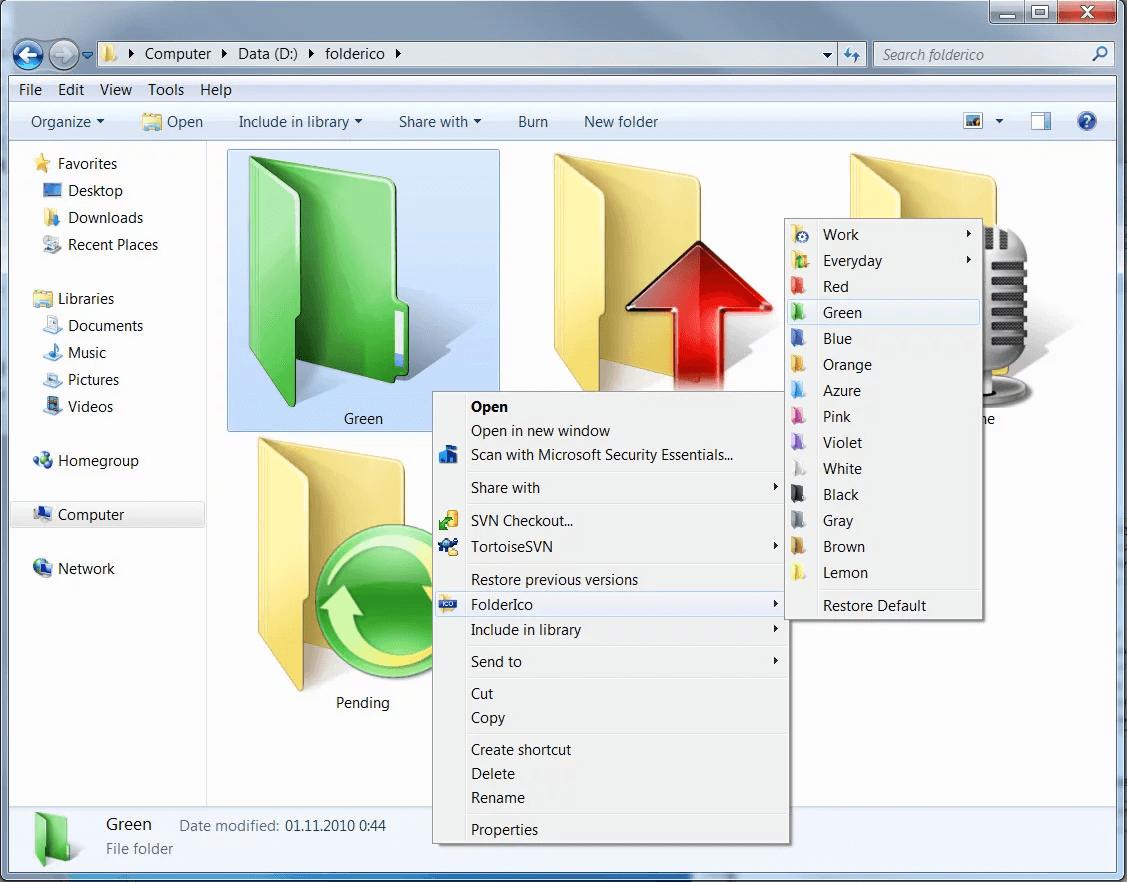 Folderico - App to Color Code Folders