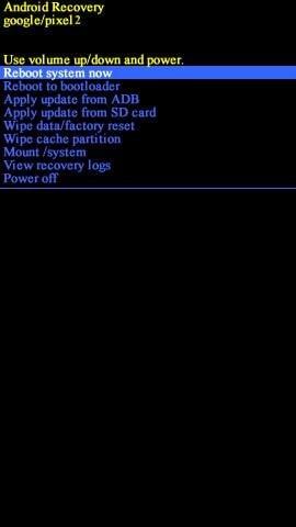 Reboot system