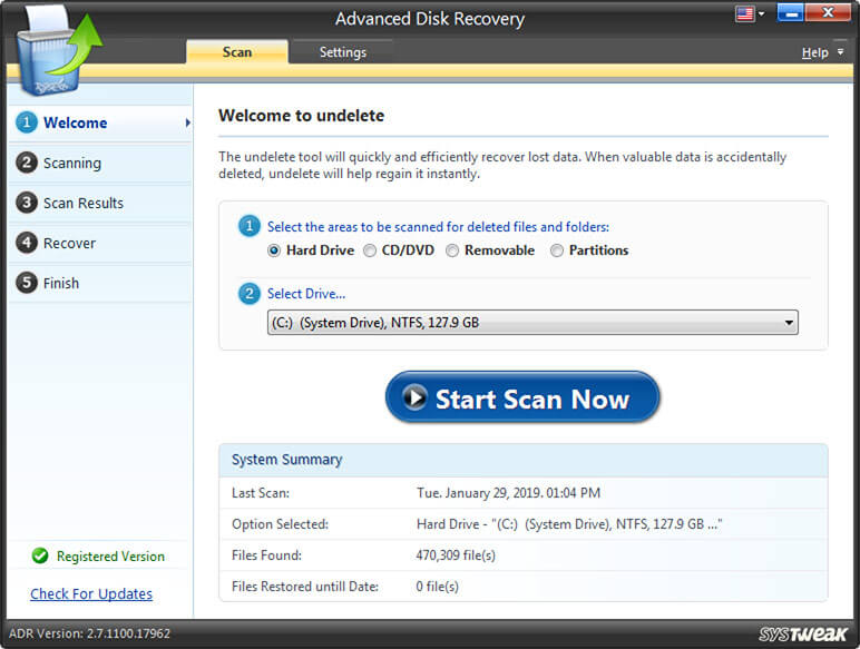 Recover Permanently Deleted Files with advanced disk recovery tool