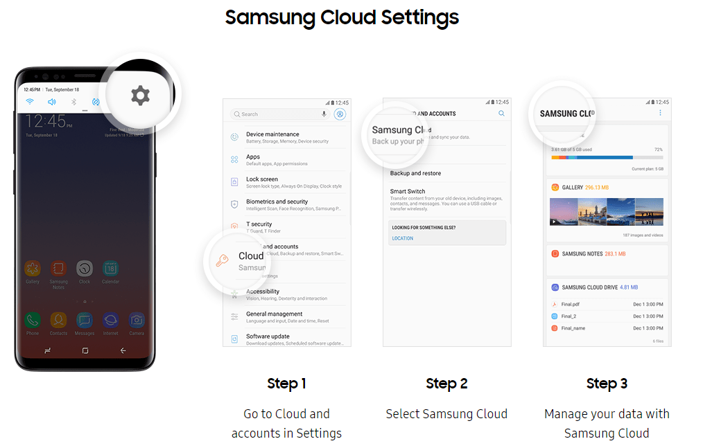Samsung Cloud Features