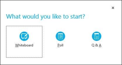Start a Poll, Q&A, OR Whiteboard