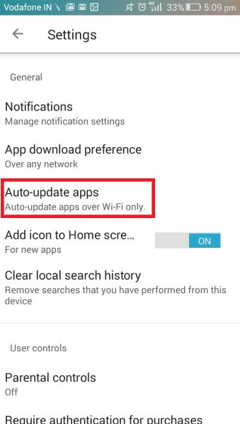 Turn up Auto Updates