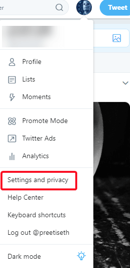 Twitter - Setting and Privacy
