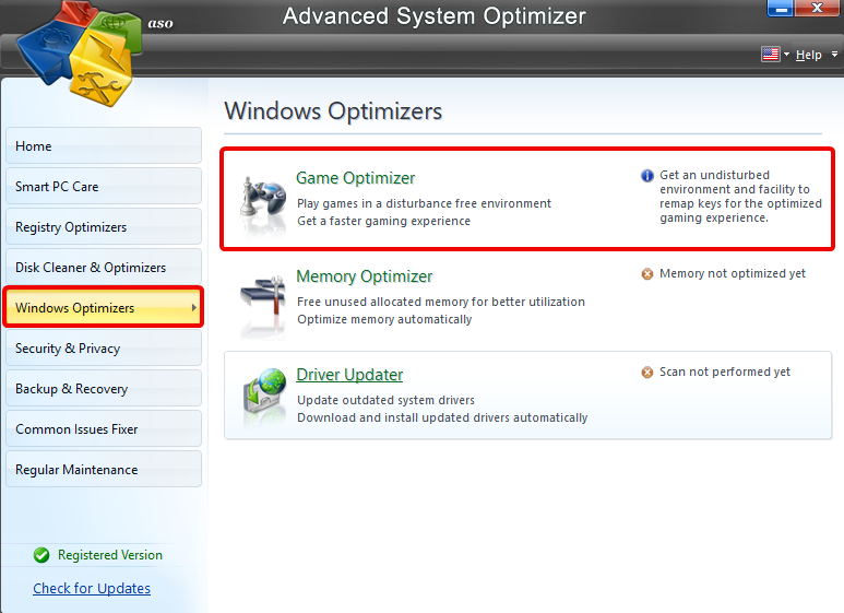 game optimizer windows