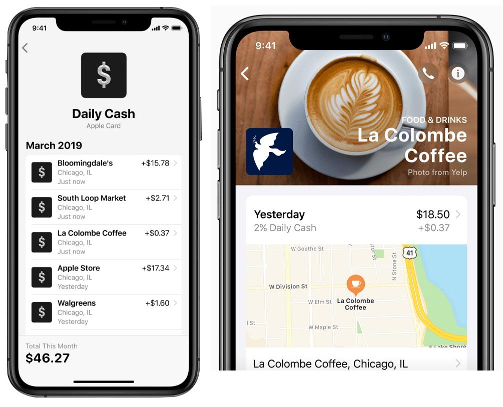 apple credit card - reward summary