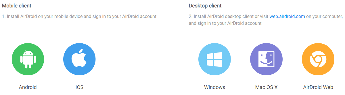 AirDroid Client - Control Android Phone From computer