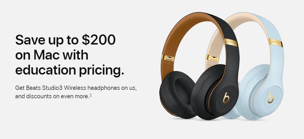 Beats Studio wireless headphones with Apple student discount