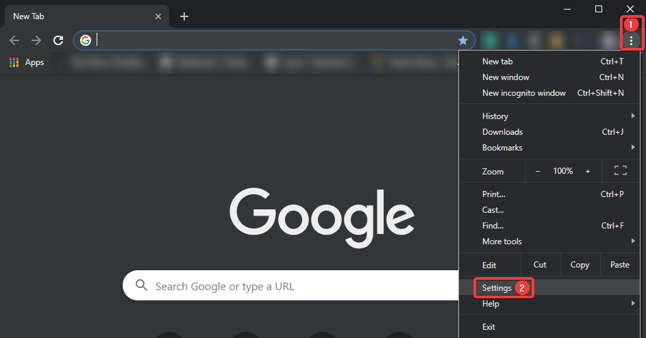 Dark Mode on Chrome-PC Settings