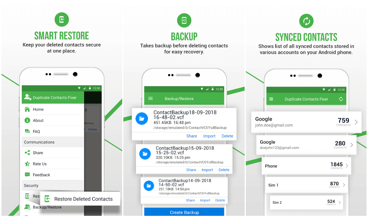 Duplicate Contacts Fixer and Remover- Android App