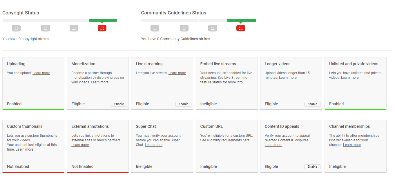 Enable YouTube Settings Page