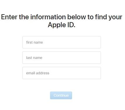 Forgot password_Apple ID