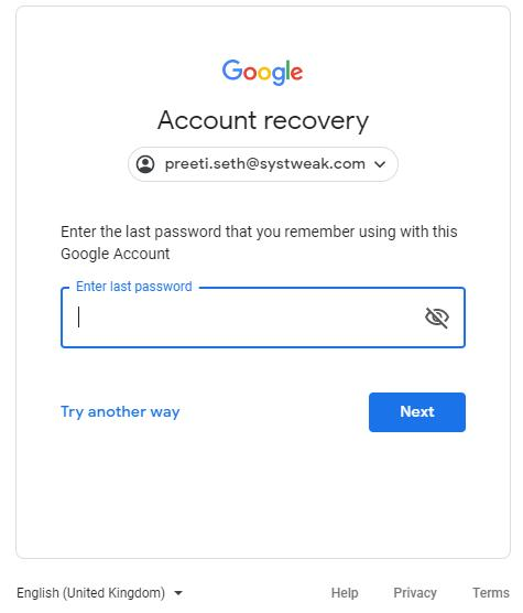 Google_account Recovery
