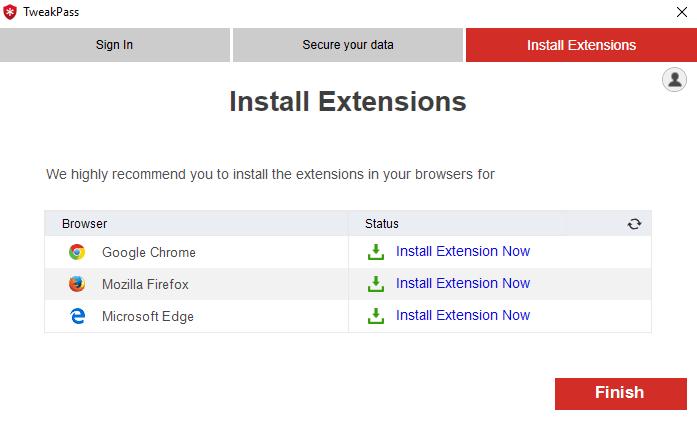 Install extension