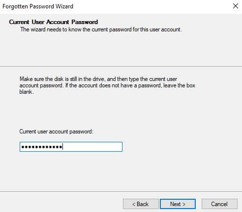 Password Reset Disk_Windows 10_ 3 step