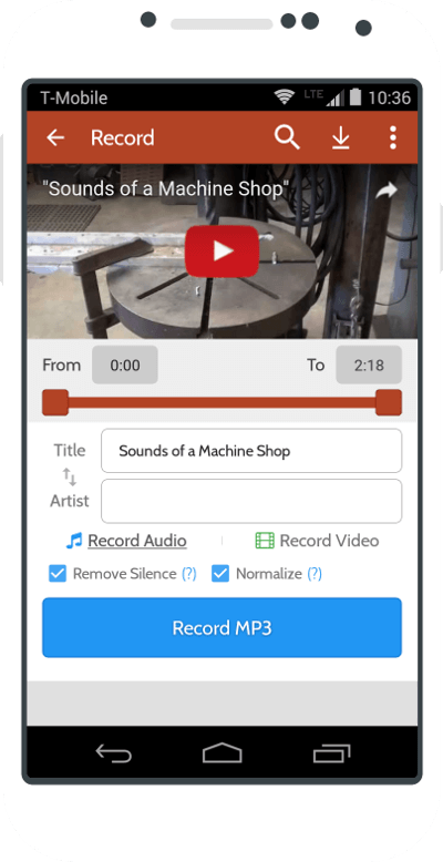 Peggo - YouTube converter to MP3 for Android