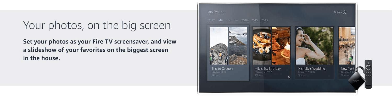 Photos on big Screen