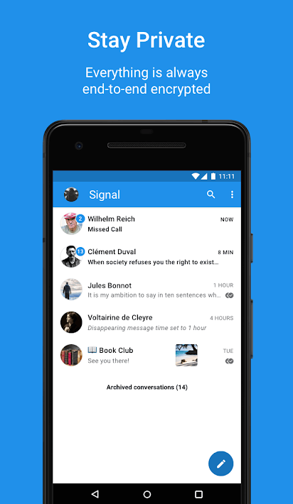 Signal Private Messenger - anonymous text app