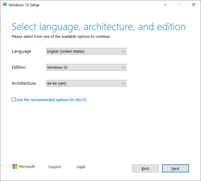 Windows version and language