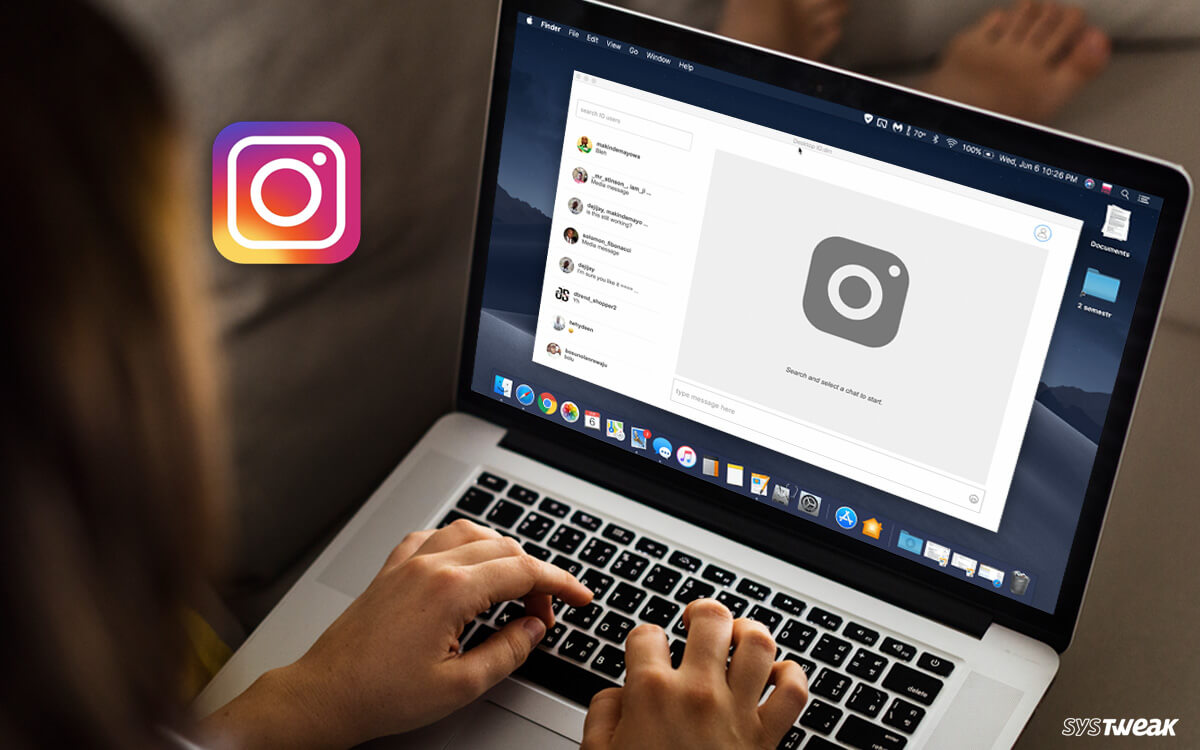 how to instagram DM online