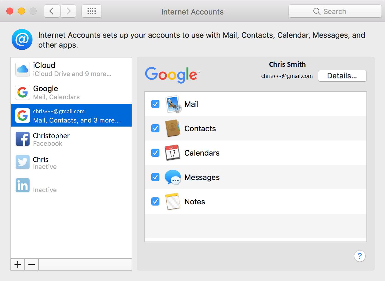 icloud setup on Mac system