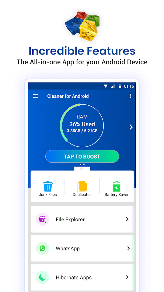 systweak android cleaner - phone temperature app