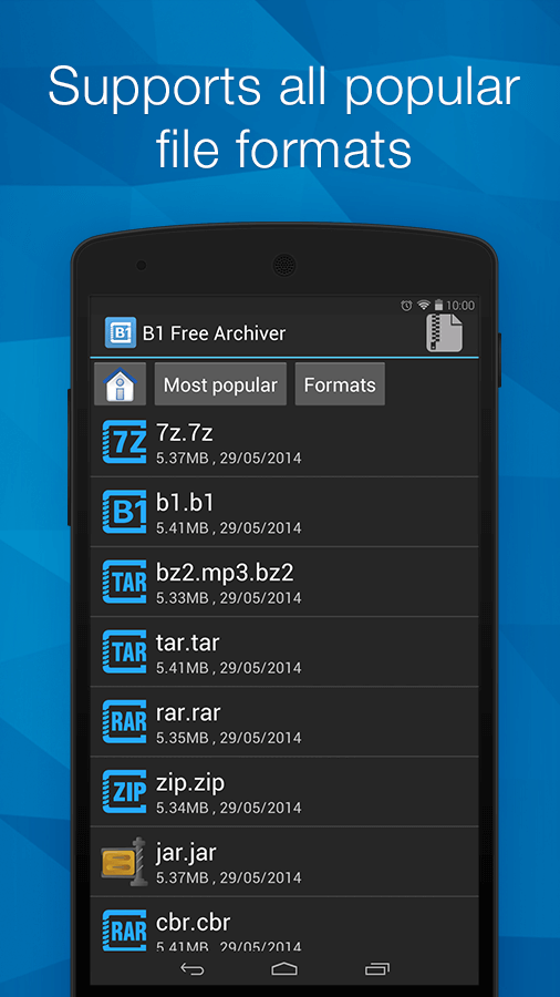 B1 free archiver - ZIP extractor for Android