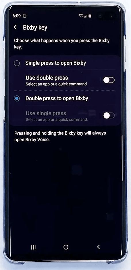 Double tap to open Bixby