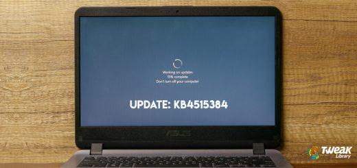 Microsoft's cumulative update KB4515384