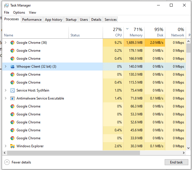 Restart Chrome From Task Manager