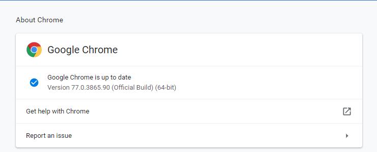 Start Updating Google Chrome
