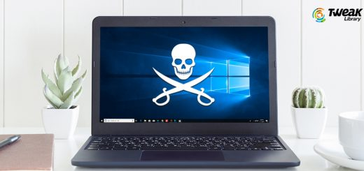 Tweak-Libray---risk-of-using-pirated-Windows-10