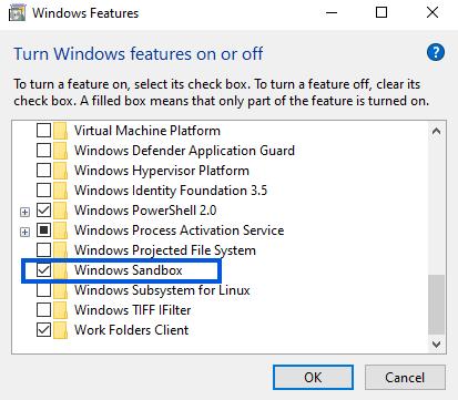 Windows Feature - Sandbox