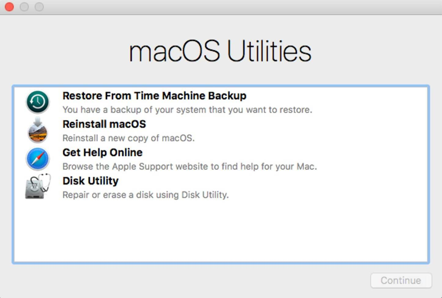 macos utilities screen